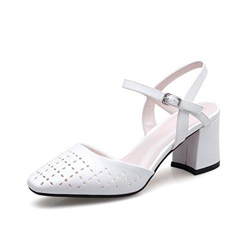 Inconnu 1TO9, Sandales Compensées Femme - Blanc - Blanc, 36.5 EU