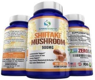 Supreme Potential AHCC 100% Pure Shiitake Mushroom Extract - 900mg - 200 Capsules