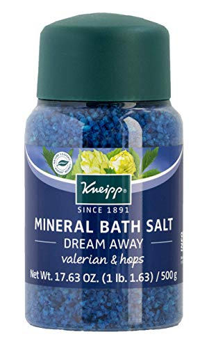 Kneipp Mineral Bath Salt, Dream Away, Valerian & Hops, 17.63 fl. oz. (Bath Scented Herbal Salt)
