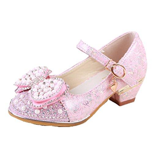 OPSUN Mädchen Sandalen Prinzessin Kinderschuhe Sandalen Sandaletten Kleinkinder Halbschuhe Sandalette Ballerinas Rosa