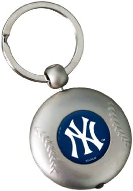 MLB New York Yankees Silver Baseball Flashlight Keychain