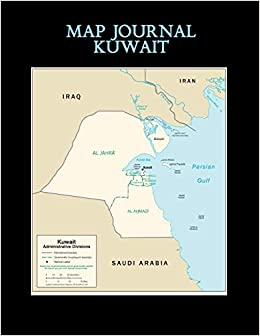 Map Journal: Kuwait: 150 page lined notebook/diary: Janice ...