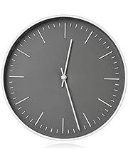 RCA Relógio de parede RCWC10WG, redondo de 25,4 cm - cinza. Relógio de parede decorativo - Precisão de quartzo operada por bateria - Relógio de exibição grande