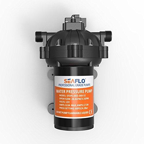 SEAFLO 12V DC 5.5 GPM 60 PSI 51-Series Diaphragm Water Pressure Pump for Marine Boat RV Caravan FUAN AIDI ELECTRIC CO. LTD