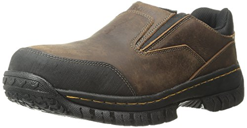 Skechers for Work Men's Hartan Slip-On Shoe, Dark Brown, 12 M US