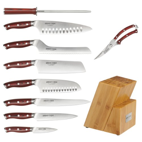 10-piece-Cutlery-Set-with-Bamboo-Block-knife-set-CRIMSON-Series-by-Ergo-Chef