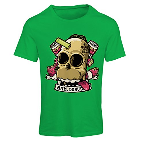 lepni.me N4413F T Shirts for Women Insert Brain Here (Small Green Multi Color) ()