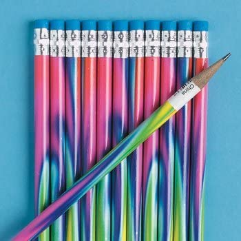 Fun Express Tie-Dyed Pencils - 24 Pieces