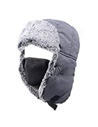 Azarxis Winter Trooper Trapper Hat Hunting Hat Bomber Cap Ear Flap Chin Strap