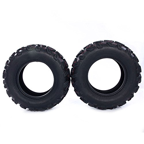 Set of 2 New ATV UTV Rear Tires 25x10-12 Rear 25x10x12, 6 Ply P306B by Autoforever (Image #4)