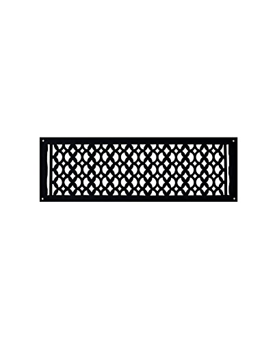 Cast Iron Air Return Grille- Handcrafted, Re-Paintable HVAC Floor Vent - Elegant Air Return Grill 6-inch X 24-inch, Durable, Sand Casted, Powder Coated, Matte Flat - Black