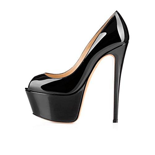 Kolnoo - Zapatos con tacón Mujer negro