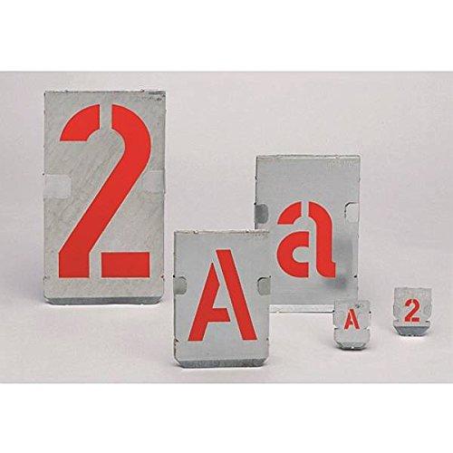 LEMAX® Signierschablonen Ziffernsatz 0-9, Schrifthöhe: 300mm, Zinkblech
