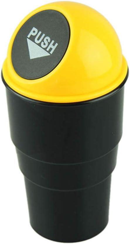 Creative Mini Auto Push Poubelle Porte-Poubelle Bo/îte De Rangement Bo/îte De Rangement Accessoires De Voiture Mini Poubelle