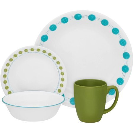 Corelle Livingware 16-Piece Dinnerware Set, South Beach