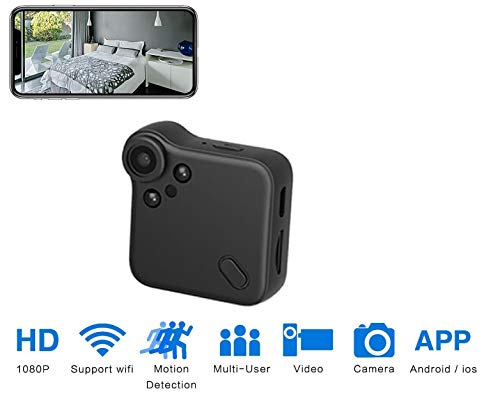 DENT 1080P Wireless Hidden Spy Camera – WiFi, Live Remote View, Automatic Night Vision, Motion Detection, Loop Recording, Surveillance Security Nanny Pet Body Cam, Includes 32 gb Card