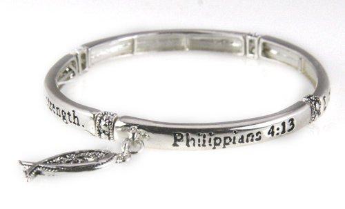 4030889 Philippians Stretch Bracelet Scripture