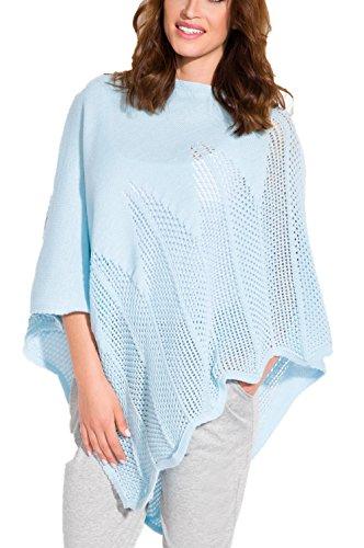Amourelle - Poncho - capa - para mujer Azul