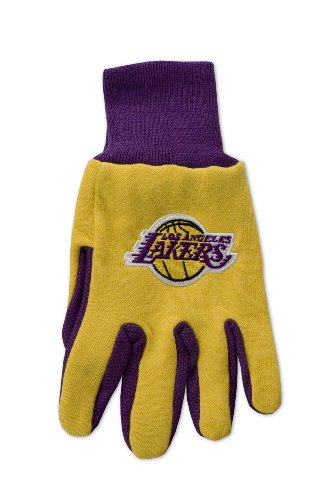 NBA Los Angeles Lakers Two-Tone Gloves, - Outlets Malls Jersey