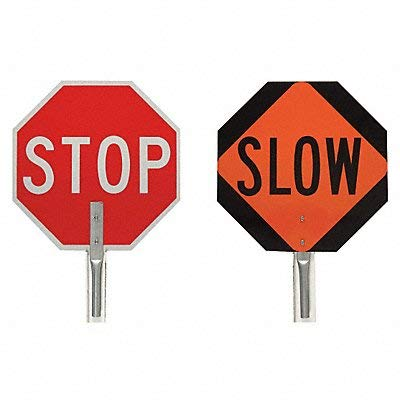 Brady Traffic Control Paddle Stop/Slow 18 ()