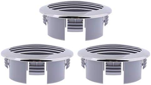 ステンレス換気口 エアコンの換気口 耐食性 耐久性 超長寿命 オシャレ シルバー 3個入り