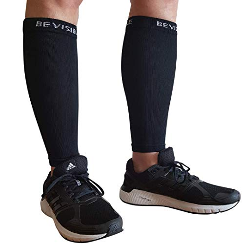 BeVisible Sports Calf Compression Sleeve - Shin Splint Leg Compression Socks for Men and Women | Calf Sleeves for Running Cycling Travel & Recovery from BeVisible Sports