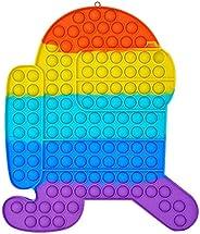 Super Jumbo Push Pop Fidget Toy, Big Size Rainbow Bubble Fidget Sensory Toy, Popular Stress Relieving Fidget T