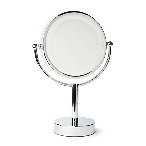 8e4bfb64d7f Vanity Planet Gleam Dual-Sided 1X 7X Magnifying Mirror with 3 LED Light  Settings