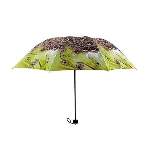Asian National Costume For Boys (Individuality Peacock Printed Windproof National Style Sunshade Parasol Umbrella Folding Travel Umbrella Novelty Gift,C)
