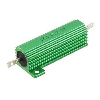 eDealMax 50 Watt 0, 2 Ohm 5% Verde Aluminio Shell Wire ...