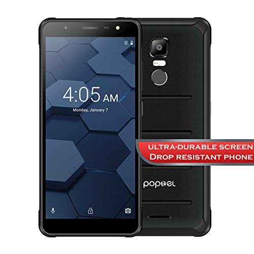 PoptelUSA P10 4G Durable Smartphone 5.5 inch Android 8.1 MTK6763 Octa Core Phablet 4GB RAM 64GB ROM (Black)