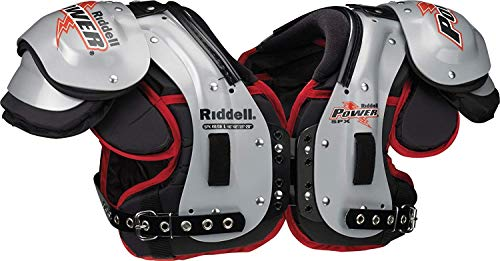 Riddell Varsity Power SPX RB/DB Football Shoulder Pads (Grey/Red, - Shoulder Power Pads Football