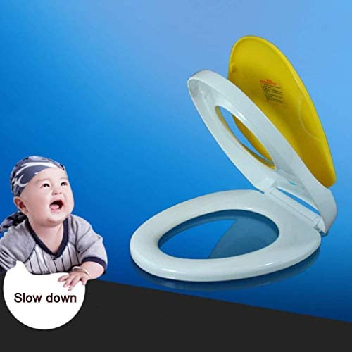 Djyyh 抗菌PPボードと便座ファミリー便座は大人子供、ミュート超耐熱トップマウントOシェイプトイレのふたをスローダウンA-45〜47センチメートル* 37センチメートル