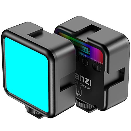 Yantralay-Ulanzi-VL49-Professional-Magnetic-RGB-LED-Light-with-2-Color-Modes-for-LiveStreaming-Photo-Shoot-with-3-Hot-Shoe-Mounts-Compatible-with-All-CamerasSmartphones-DSLRVlogging-Accessories