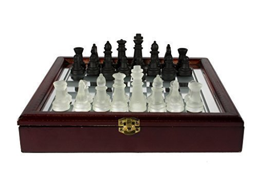 Glass Chess Set with Storage Case, 10 by CHH ()