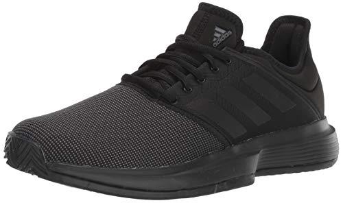adidas Men's GameCourt Tennis Shoe, Black, 7.5 M US