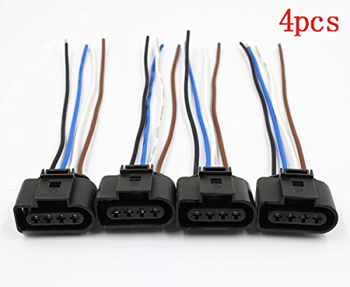 (AUTOKAY 4pcs Ignition Coil Connector Repair Kit Harness Wiring Plug for Audi VW Jetta Passat )