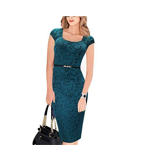 Cheryl Bull Elegant Women Floral PrinCap Sleeve Work Business Casual Party,8XL,Green]()
