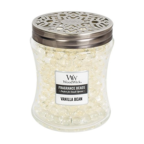 WoodWick VANILLA BEAN, Spill-Proof Fragrance Beads, Hourglass Jar, Small 4-inch, 6.7 oz by WoodWick