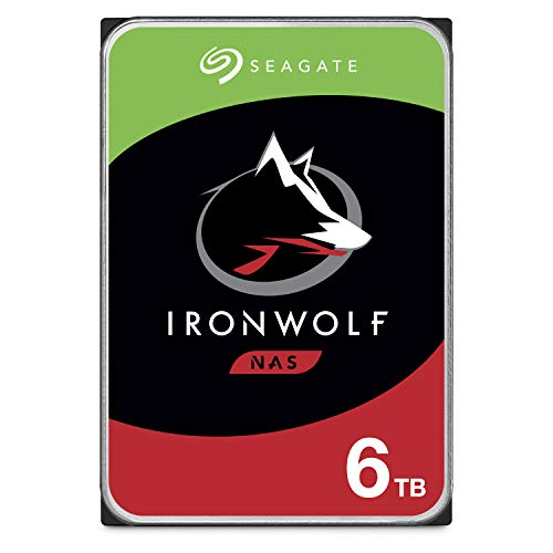 Seagate IronWolf 6TB NAS Internal Hard Drive HDD - 3.5 Inch SATA 6Gb/s 7200 RPM 256MB Cache for RAID Network Attached Storage - Frustration Free Packaging (ST6000VN0033) (Big 6)
