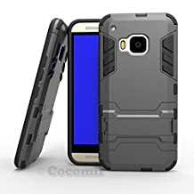 HTC One M9 Case, Cocomii® [HEAVY DUTY] Iron Man Case :::NEW::: [ULTRA WAR ARMOR] Premium Shockproof Kickstand Bumper [MILITARY DEFENDER] Full-body Rugged Dual Layer Cover for HTC One M9 ★★★★★ (Gray)