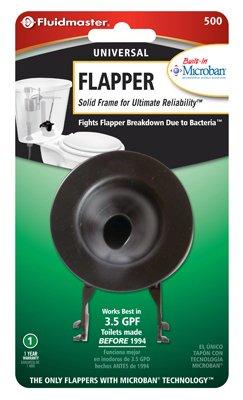 Fluidmaster 500P21 Bulls Eye Toilet Flapper, Vinyl With Plastic Chain