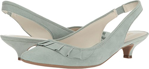 Anne Klein Women's ELANORE Pump, Light Green Suede, 5 M US