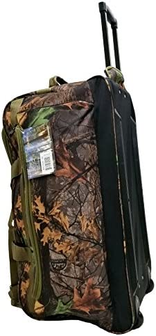 Explorer Mossy Oak Realtree Like Tactical Hunting Camo Heavy Duty Duffel Bag Luggage Travel Gear for Huniting Outdoor Police Security Every Day Use 30 Rolling Bag