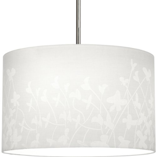 - Progress Lighting P8766-01 Modular Pendant System Choose Shade and 1-Light Stem (P5198) Or 3-Light Stem (P5199) to Make Complete Fixture 16-Inch Floral Fabric Shade, Floral Fabric