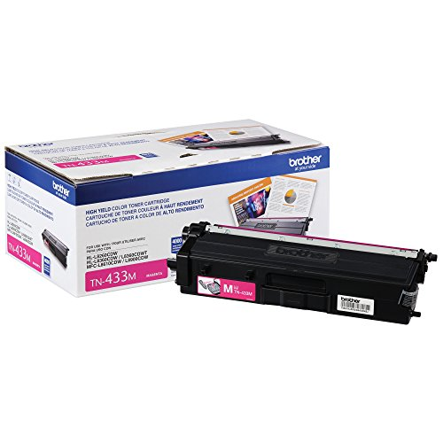 Brother Printer TN433M High Yield Toner-Retail Packaging , Magenta