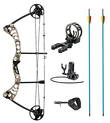 leader-accessories-compound-bow-30-55lbs-archery-hunting-equipment-with-max-speed-296fps-green-camo-