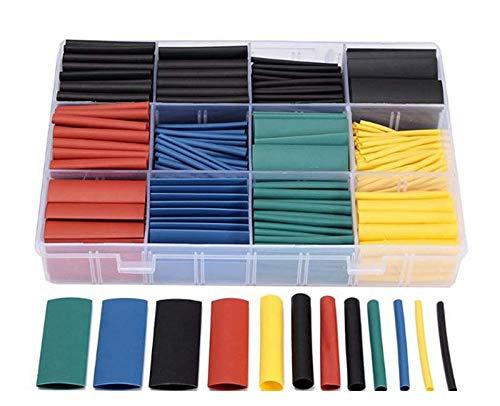530pcs/set Heat Shrink Tubing Insulation Shrinkable Tube Assortment Electronic Polyolefin Ratio 2:1 Wrap Wire Cable Sleeve Kit
