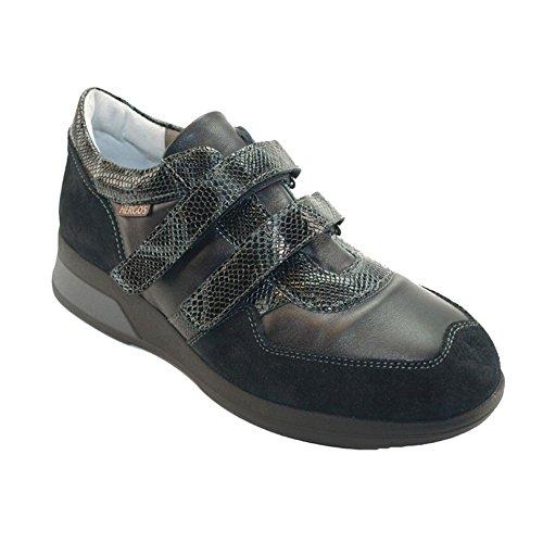 H Élégant Cuir Et Noir Confortable Chaussure Daim Noir 9033 Hergos TWCqvwpp