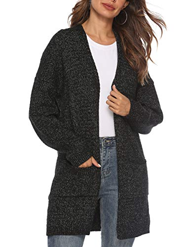 Women's Casual Sweater Cardigan Open Front Tops...